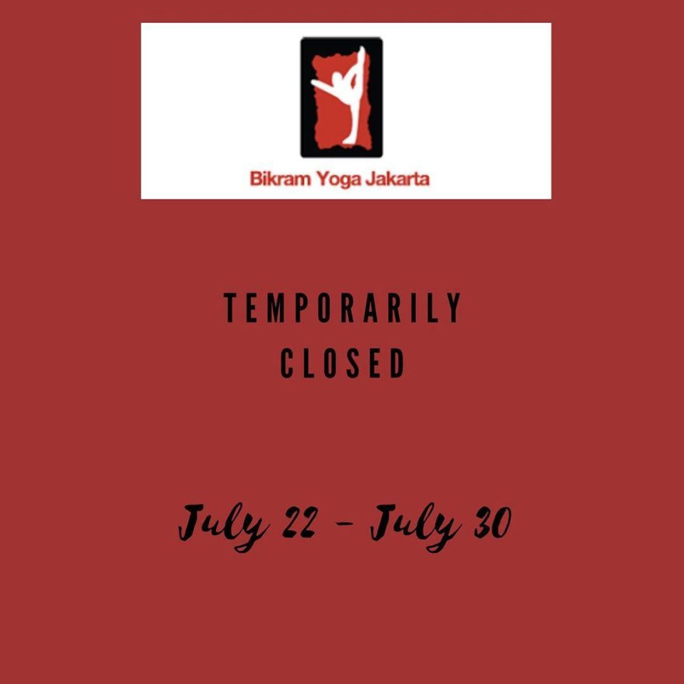 Studio will be temporarily closed on July 22-30, 2020