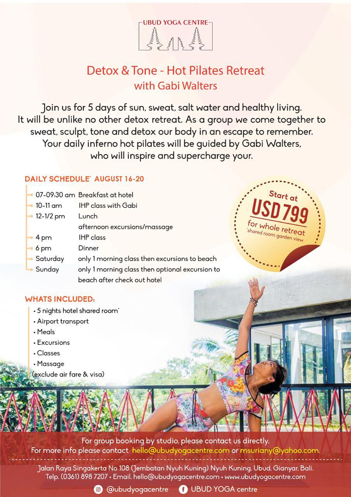 Hot Inferno Pilates Retreat with Gabi Walters – Ubud Yoga Center