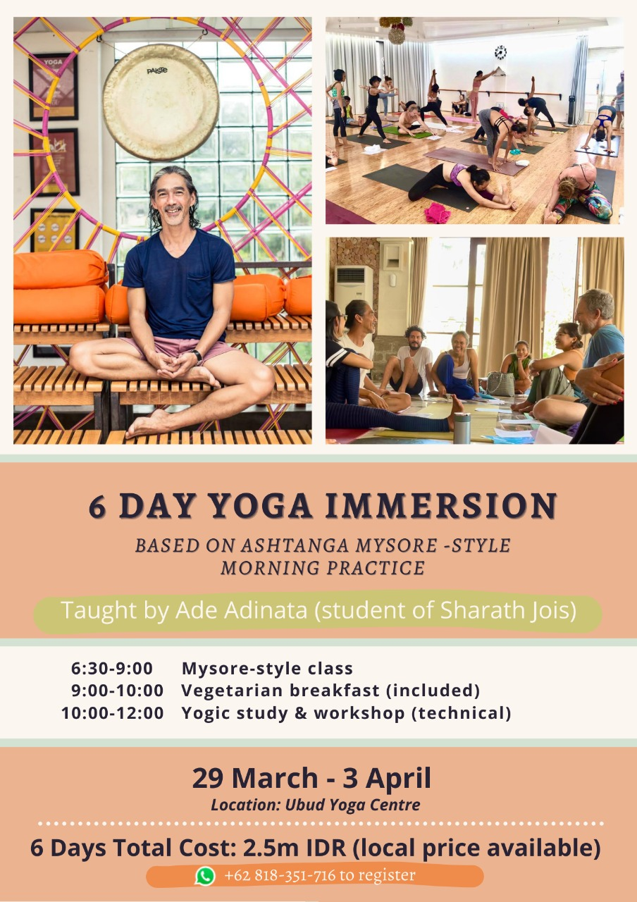 6 DAY YOGA IMMERSION – BY ADE ADINATA
